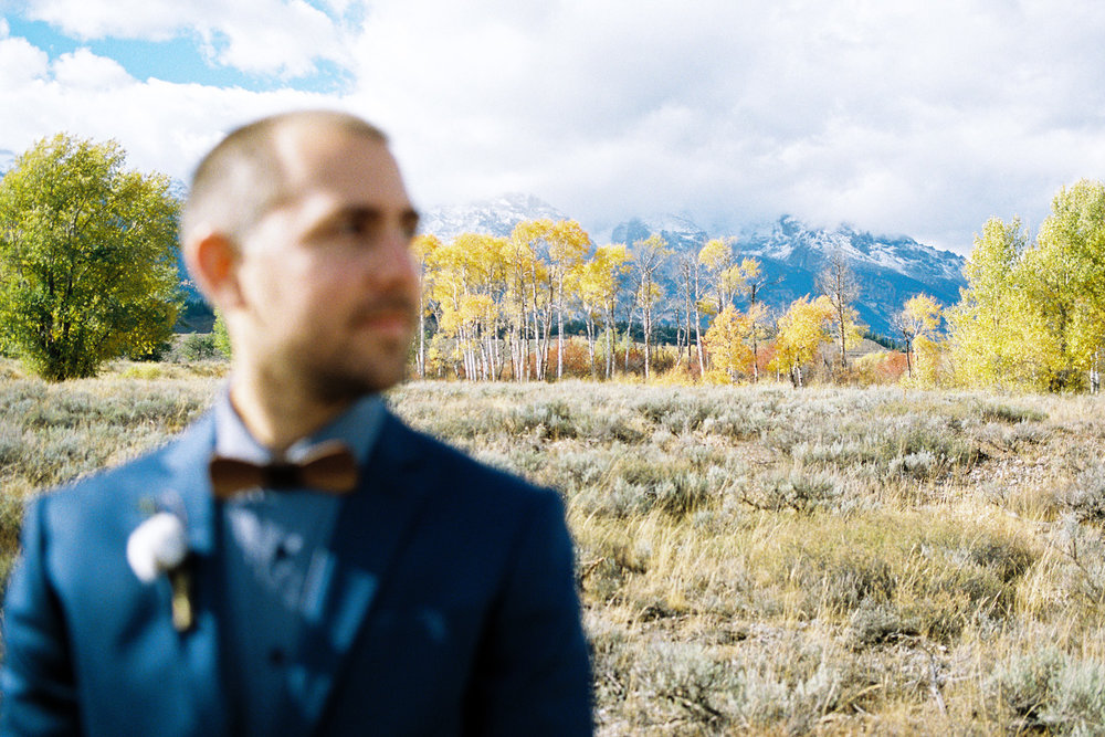 Fall Wedding in Grant Tetons National Park