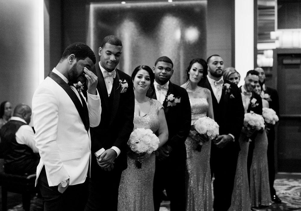 groom sees his bride first look bellevue club wedding.jpg