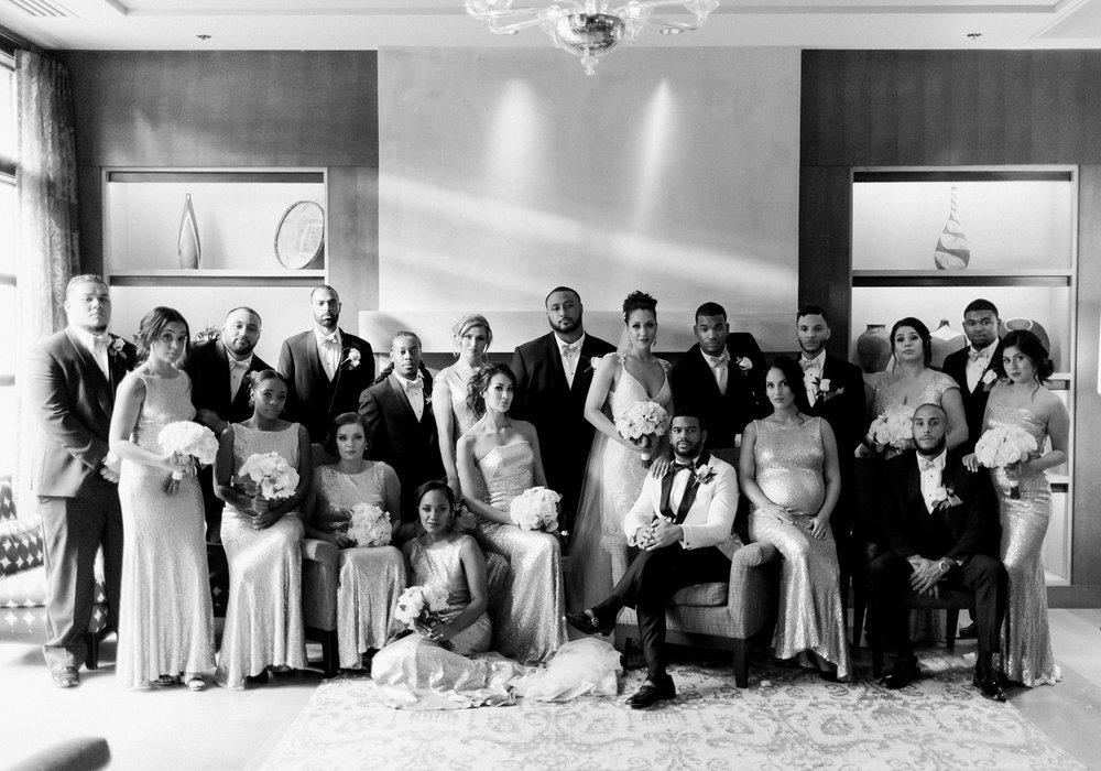 black tie wedding party group portrait seattle bride.jpg