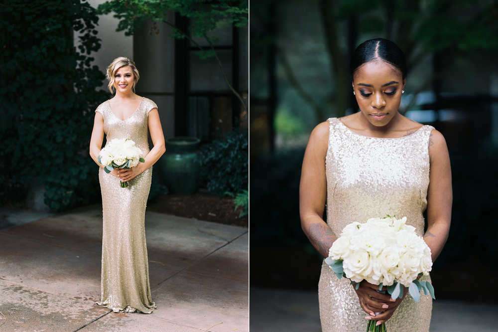 seattle bride gold bridesmaid dresses elegant wedding.jpg