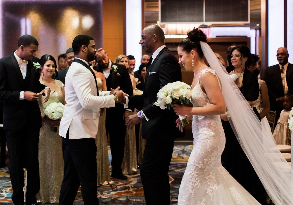 bellevue club seattle wedding ceremony bride and groom.jpg
