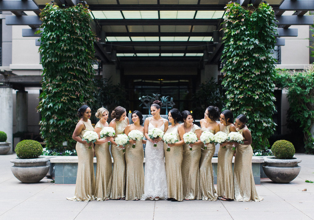 bride and bridesmaid gold dresses.jpg
