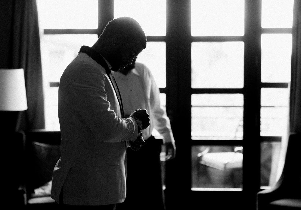 elegant groom getting ready for wedding.jpg