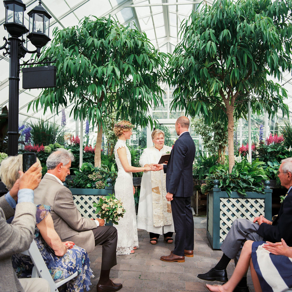 seattle volunteer park conservatory wedding ceremony intimate elopement.jpg