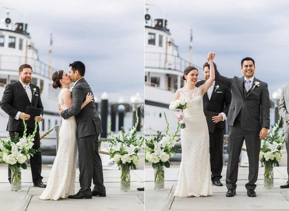 Seattle Museum of History and Industry Ceremony Wedding Photography
