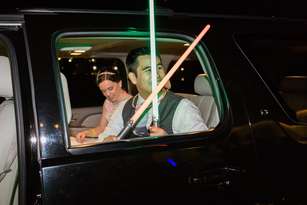 seattle south lake union wedding star wars themed wedding sendoff.jpg
