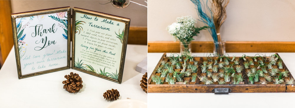 Wedding Favor Idea Make Your Own Terrarium Seattle Boho Wedding Photography