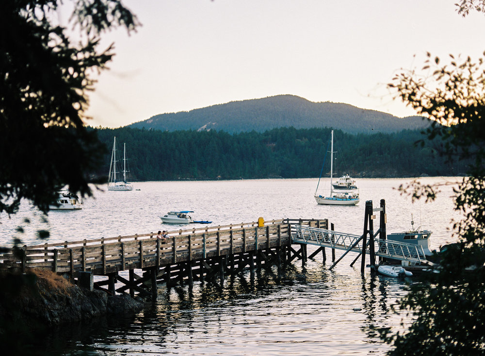 orcas island wedding at oddfellows hall at sunset.jpg
