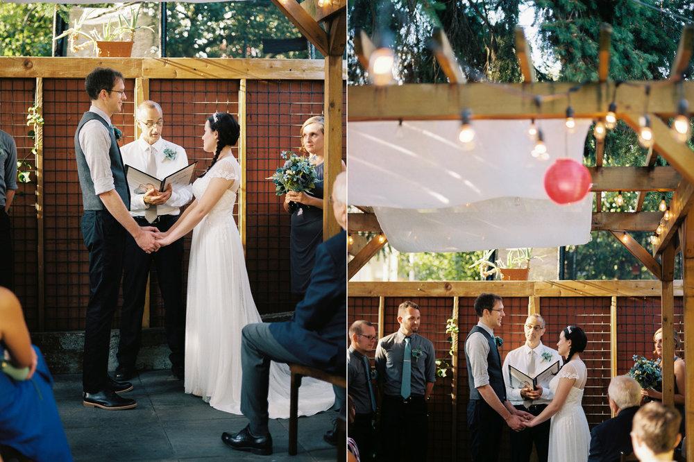 Intimate Backyard Ballard Wedding Ceremony Photography