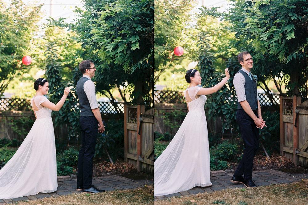Intimate backyard wedding in Seattle