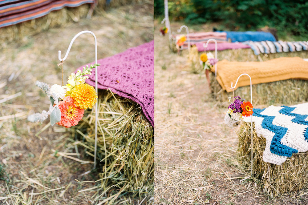 diy boho wedding aisle decorations with hand picked flowers.jpg