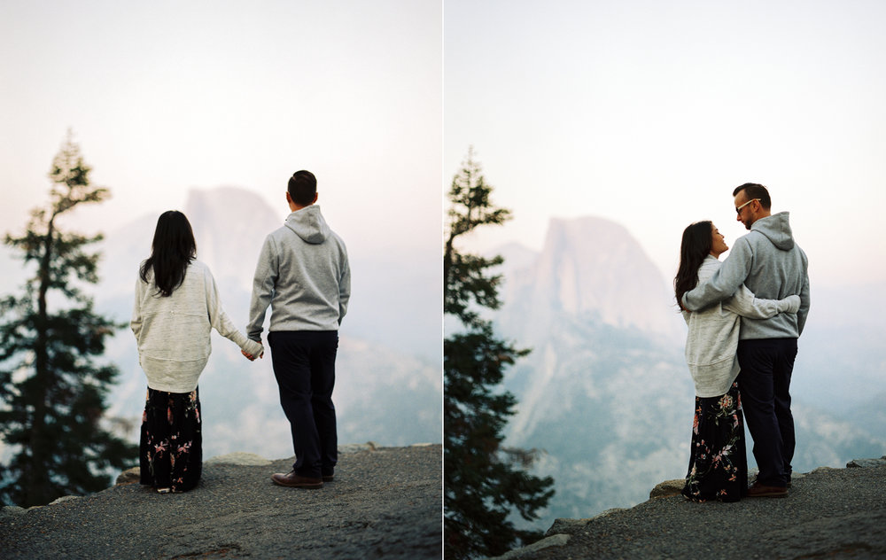 yosemite engagement photography after sunset at glacier point.jpg