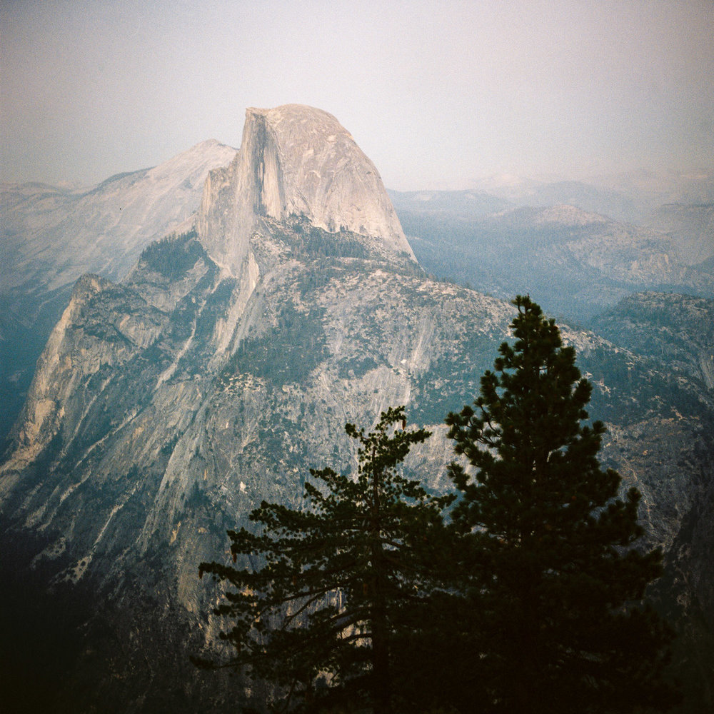 yosemite national park and half dome after sunset on film.jpg