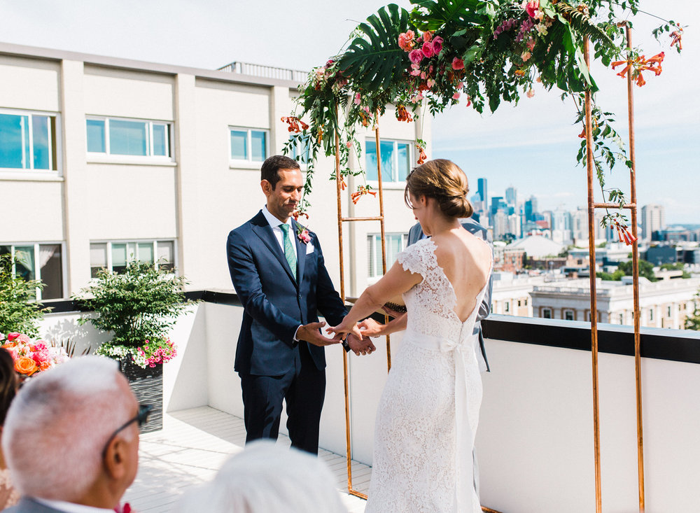 Seattle Downtown Rooftop Wedding Photography.jpg