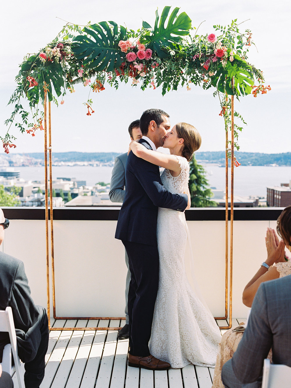 Seattle Queen Anne Intimate Rooftop Wedding Ceremony Photography.jpg