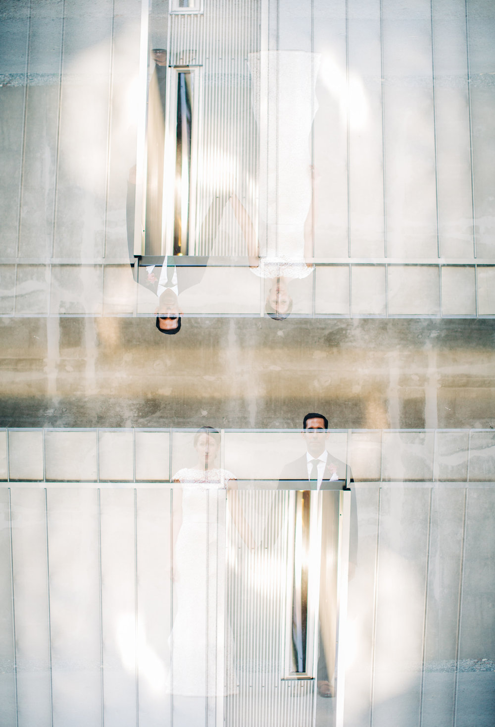 Seattle Modern Wedding Photography Double Exposure Bride and Groom Portrait.jpg