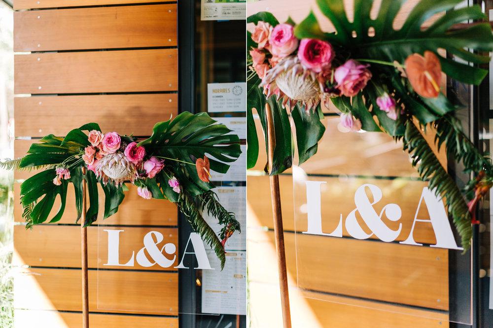 Seattle Custom Tropical Themed Wedding Signage by Bowman Design.jpg