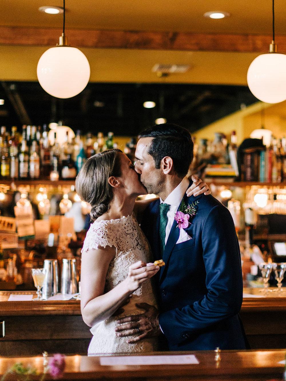 Seattle Capital Hill L'oursin Restaurant Wedding Reception .jpg