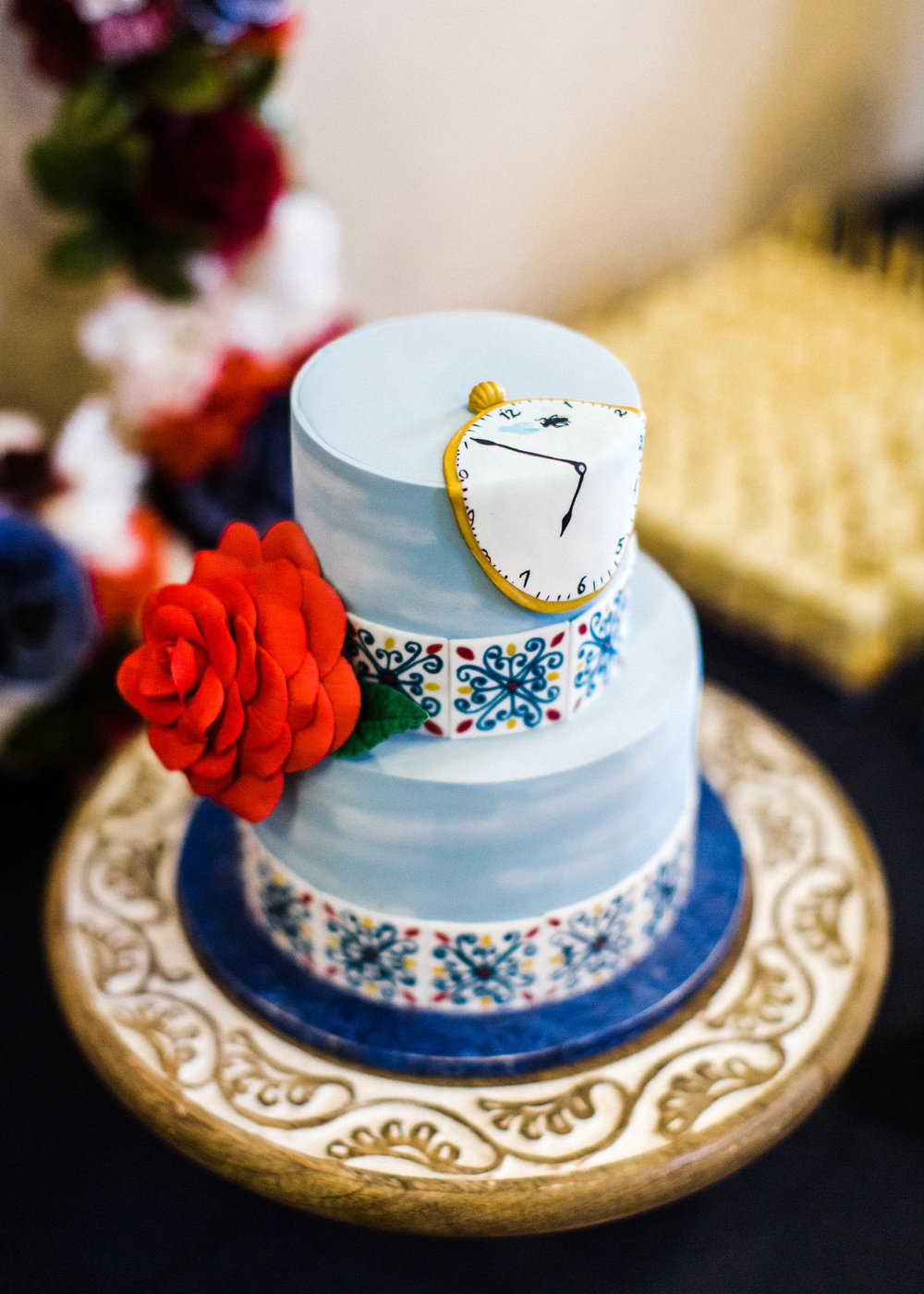 Seattle Wedding Cake Inspired by Salvador Dali.jpg