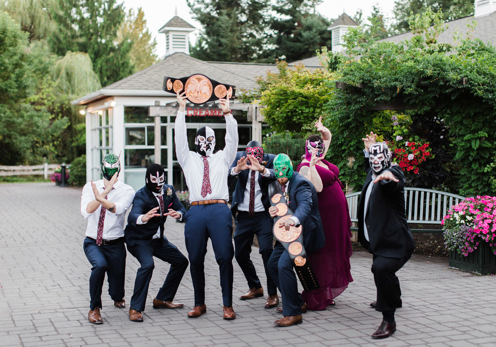Seattle Wedding Photography WWE Wrestling Bridal Party Portraits.jpg