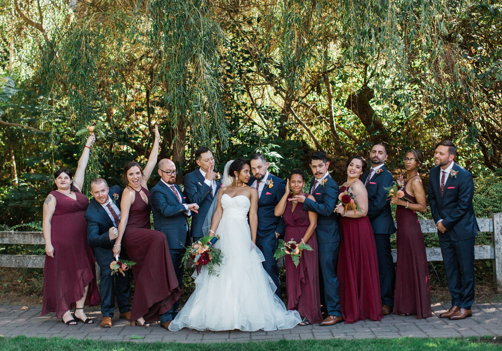 Pickering Barn Issaquah Wedding Photography Burgundy and Navy Bridal Party.jpg