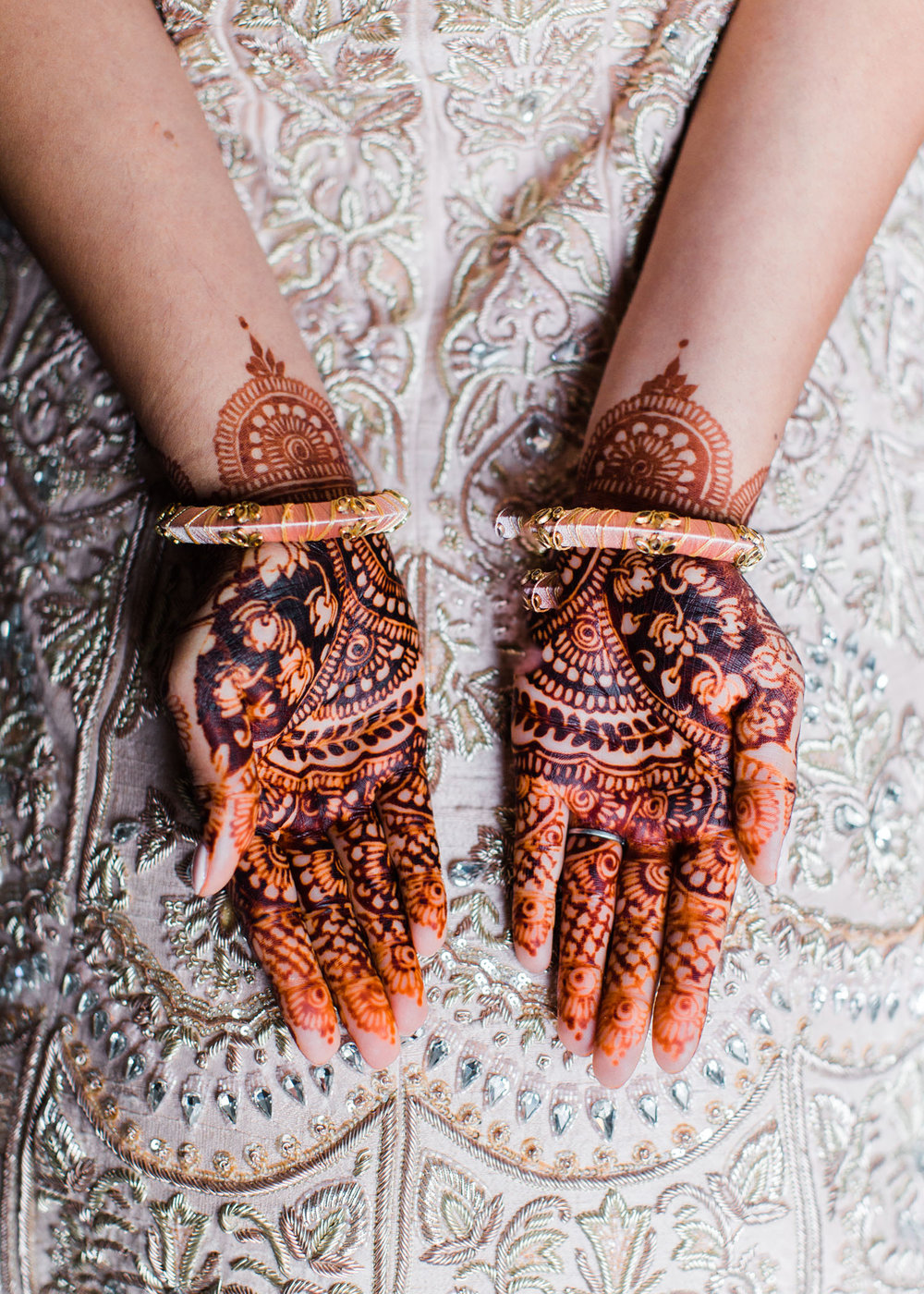 Alexandra Knight Photography Seattle Indian Wedding Photographer bride henna and blush pink dress.jpg