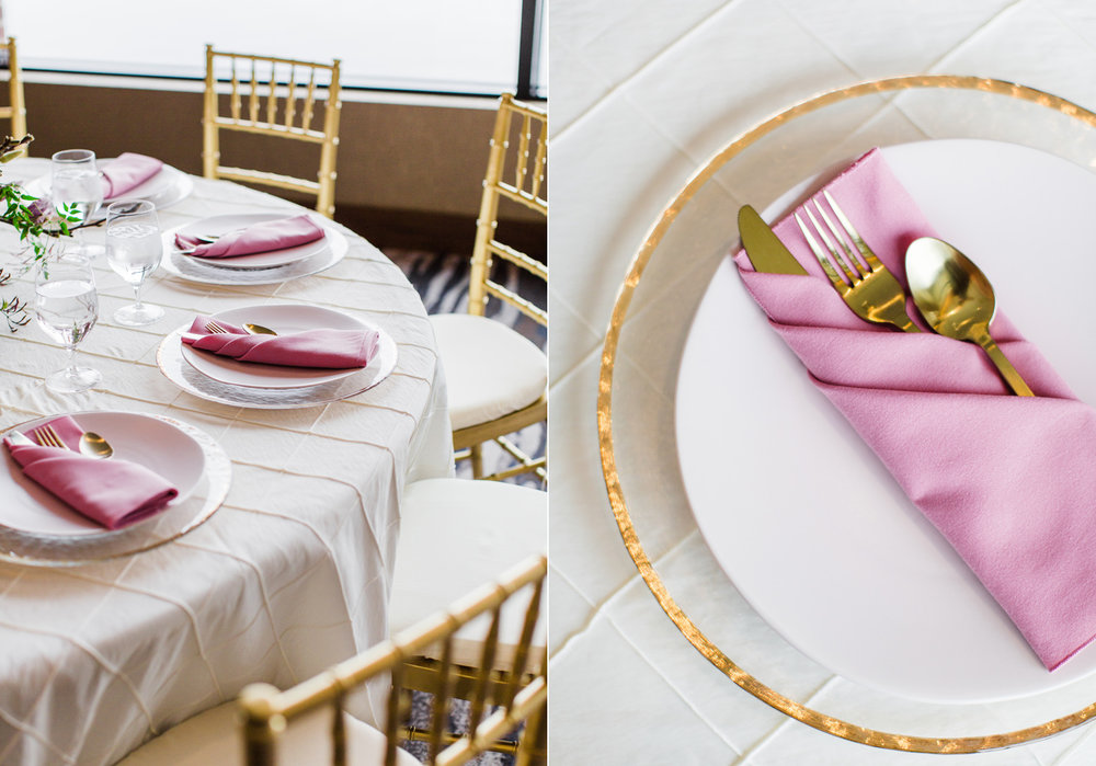 Alexandra Knight Photography Seattle Wedding Photographer pink and gold tropical wedding reception table decor.jpg