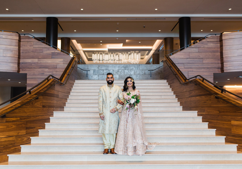 Alexandra Knight Photography Seattle Indian Wedding Photographer Lake Washington Hyatt Ballroom gold and blush wedding.jpg