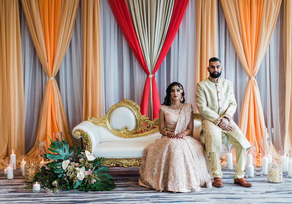 Alexandra Knight Photography Seattle Indian Wedding Photographer red and orange mandap blush and gold wedding clothes.jpg