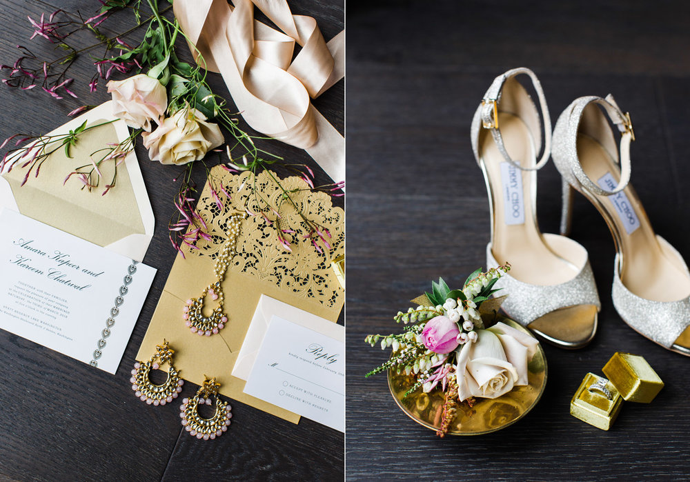 Alexandra Knight Photography Seattle Indian Wedding Photographer gold glitter invitation suite.jpg