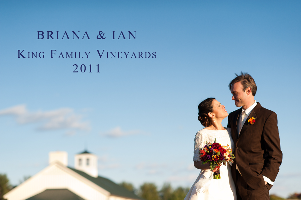 A Charlottesville Wedding Gift 2011 Winners, King Family Vineyards Wedding