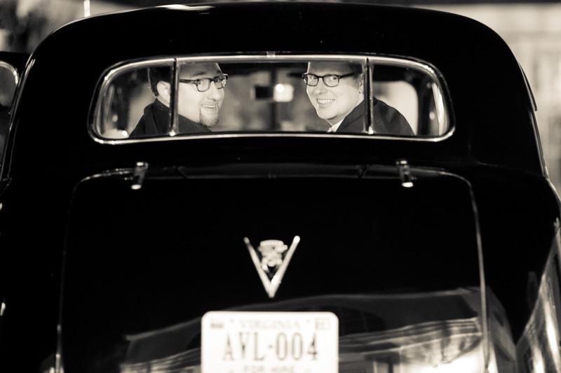 Vintage Limousine Charlottesville Gay Wedding