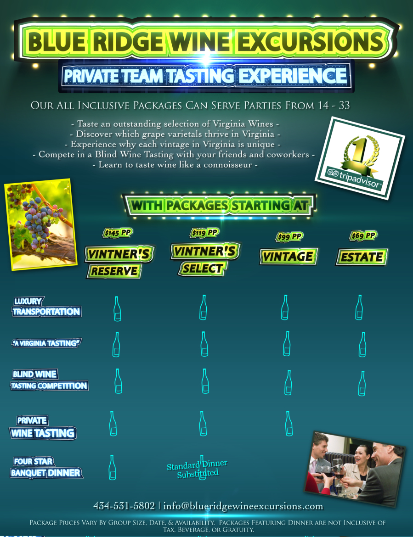Wine Tour Team Tasting Experience, Virginia Wine Tours