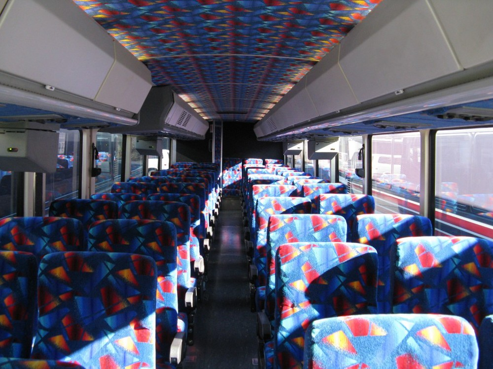 55 Passenger Bus and Shuttle Interior