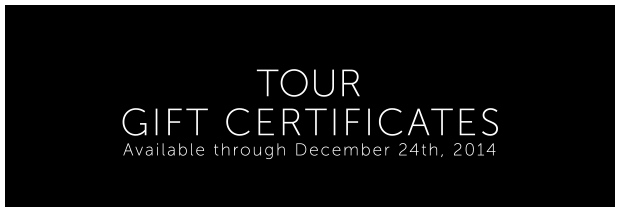 Gift Certs TOURS