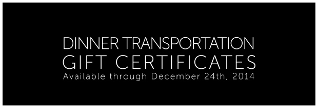 Gift Certs DINNER Transportation