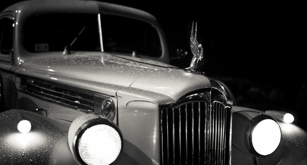 Vintage Limousine Charlottesville Wedding Get Away