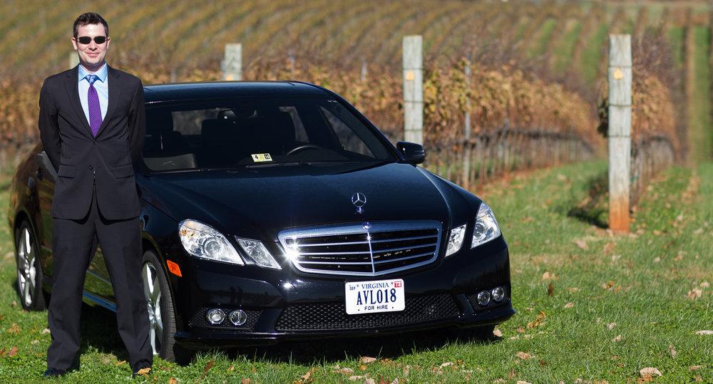 Charlottesville Wedding Sedan Mercedes Get Away Car Limousine