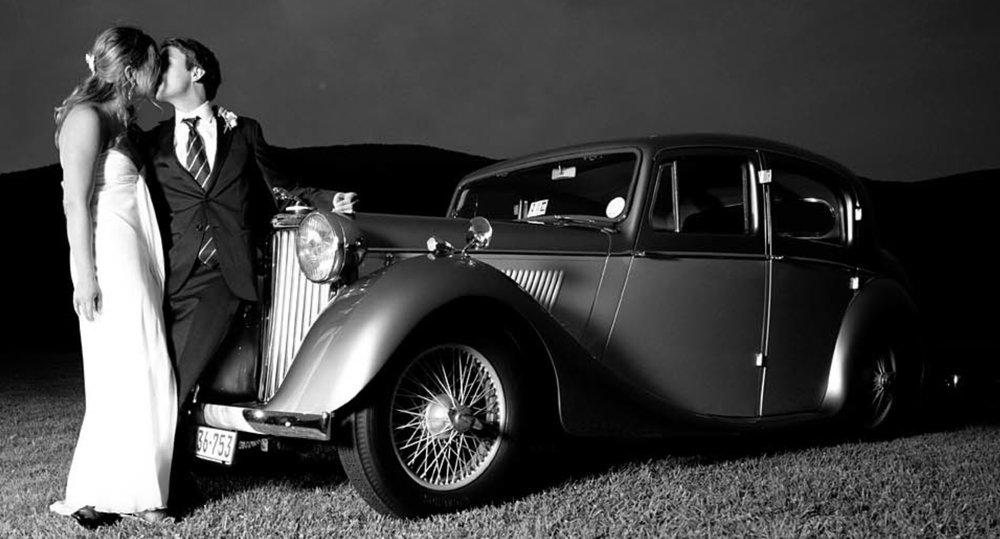 1946 Jaguar Vintage Charlottesville Wedding Get Away Car