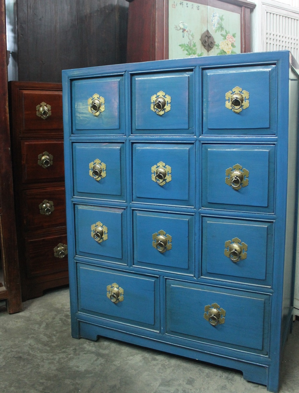 CD cabinets, available in blue, brown and dirty white. Now on sale at S$650.00. SOLD