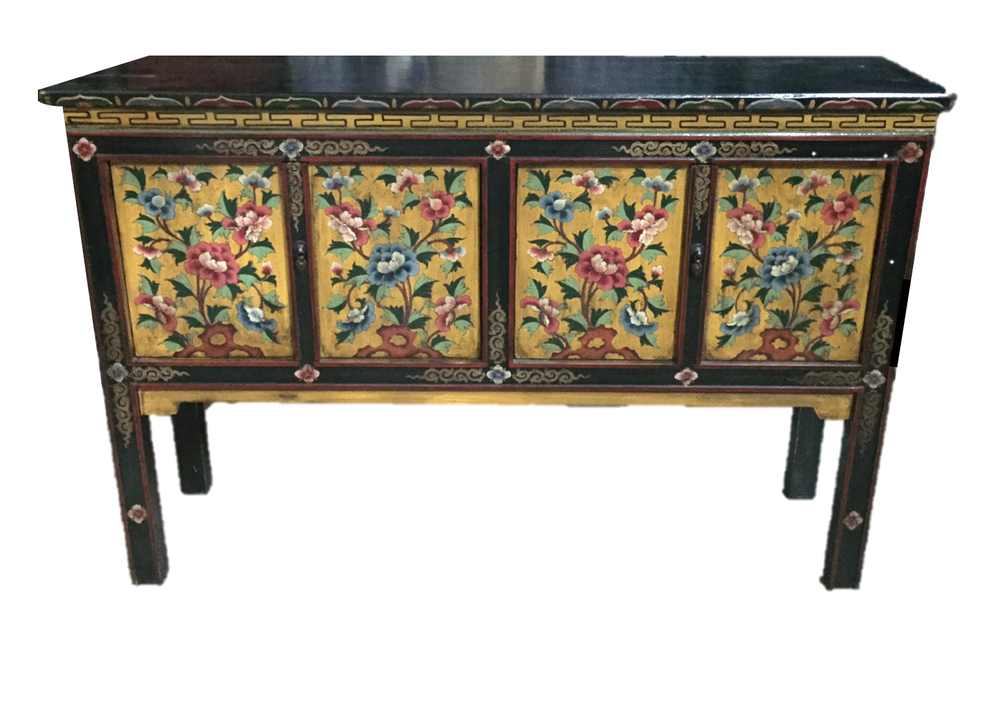 L134 x D32 x H91cm. Tibetan-style painted table. Was S$900, now S$650! SOLD