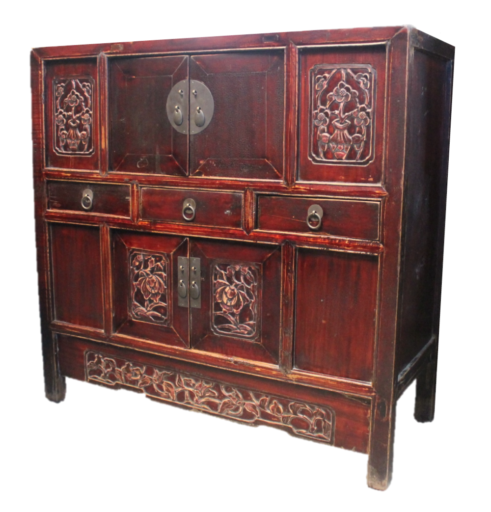 Medium carved cabinet. Was S$1200, now S$700!