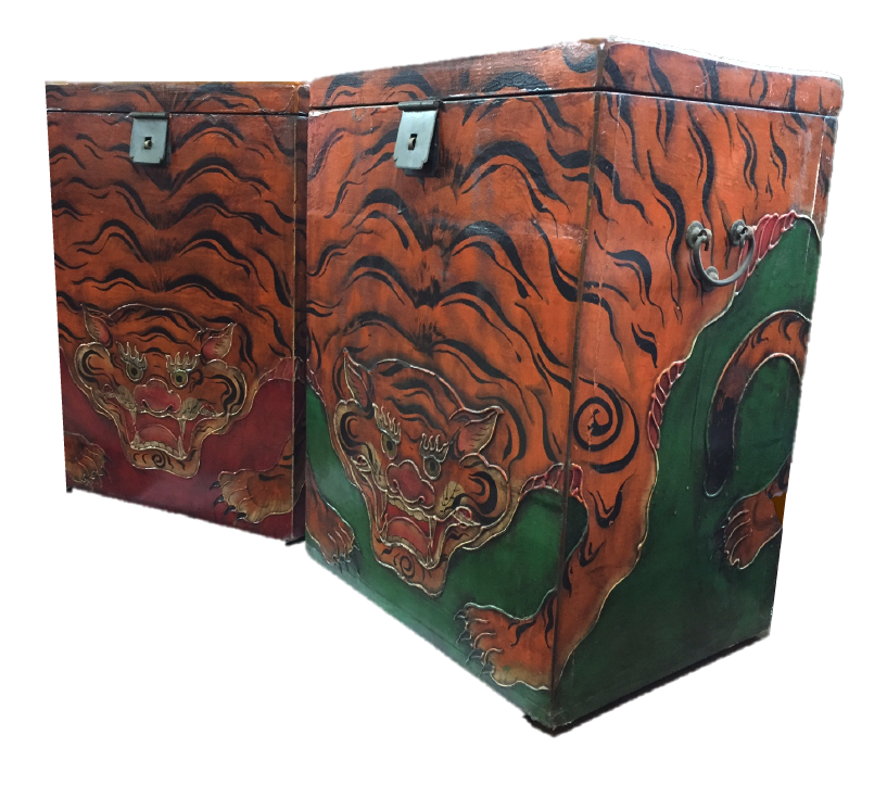 Tibetan-style tiger boxes. Now @ S$120! SOLD