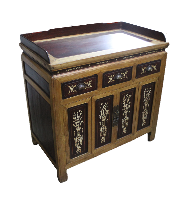 Bone-inlaid tea cabinet from Zhejiang, now at S$600!