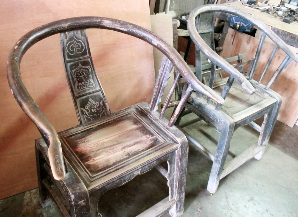 Old armchairs, original condition