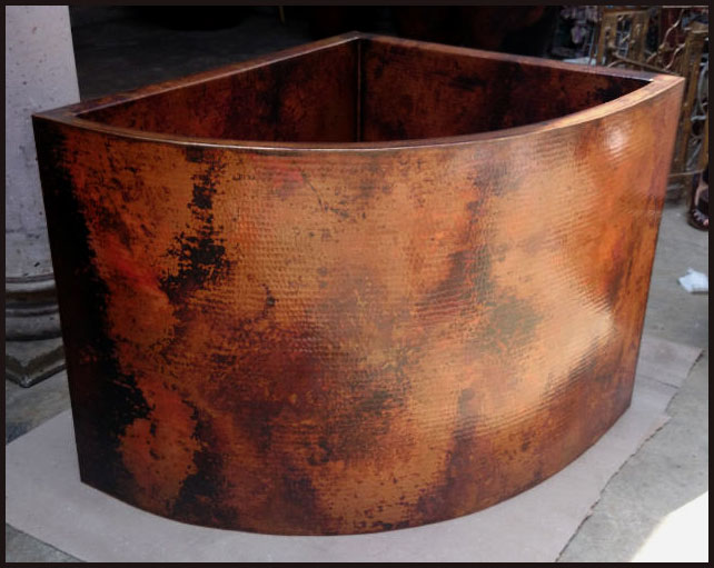 Hammered Copper Japanese Soaking Tub 1-26 — Custom Hammered Copper ...