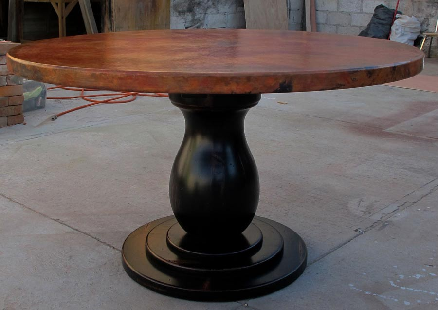 Blog custom mexican copper furniture designs - Inch round wood table top ...