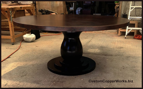 Copper Top Dining Tables