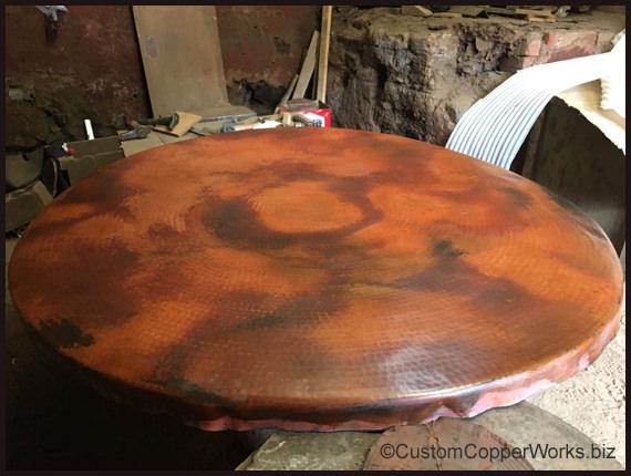 copper top dining table uk wood pedestal base review sets