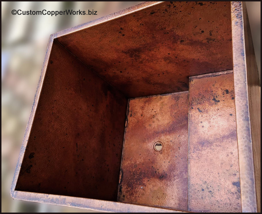 Rectangular, Hand-hammered Copper, Double Walled Japanese Jacuzzi ...